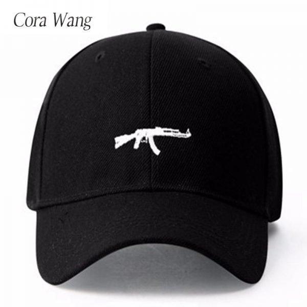 top selling Uzi Gun Baseball Cap US Fashion Ak47 Snapback Hip hop Cap  Curve visor 6 panel Hat casquette de marque 4