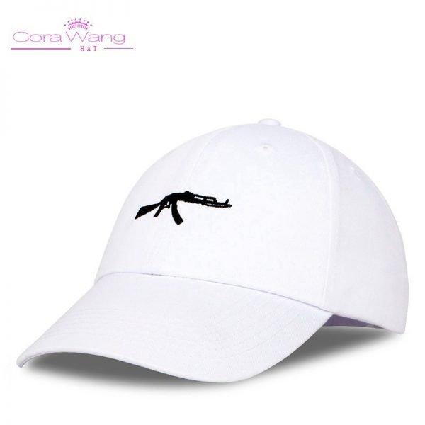 top selling Uzi Gun Baseball Cap US Fashion Ak47 Snapback Hip hop Cap  Curve visor 6 panel Hat casquette de marque 8