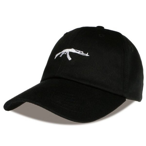 top selling Uzi Gun Baseball Cap US Fashion Ak47 Snapback Hip hop Cap  Curve visor 6 panel Hat casquette de marque 20