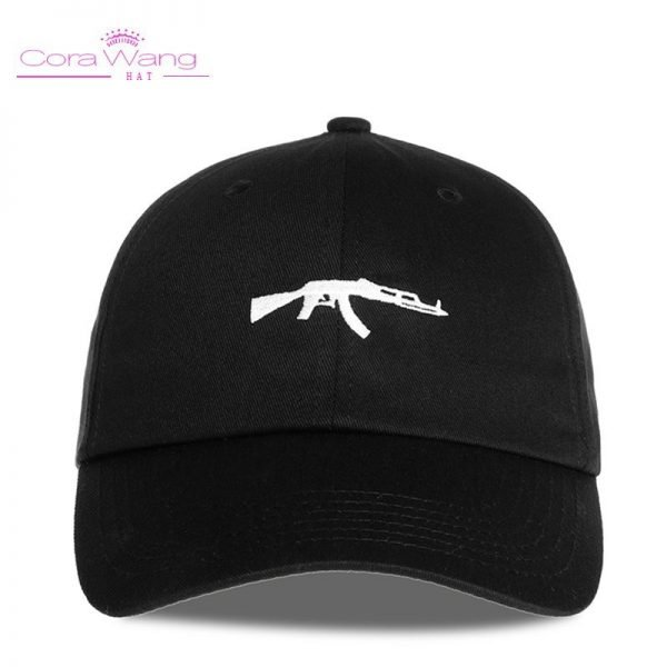 top selling Uzi Gun Baseball Cap US Fashion Ak47 Snapback Hip hop Cap  Curve visor 6 panel Hat casquette de marque 10