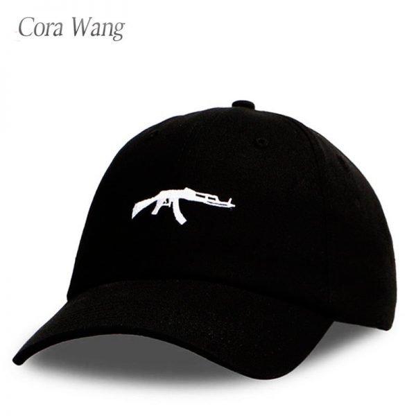 top selling Uzi Gun Baseball Cap US Fashion Ak47 Snapback Hip hop Cap  Curve visor 6 panel Hat casquette de marque 2