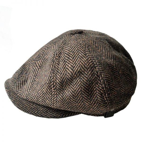 high quality newsboy caps for men and women hats gorras planas Octagonal cap Leisure and wool blend canned koala flat cap 4