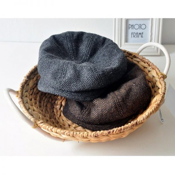 high quality newsboy caps for men and women hats gorras planas Octagonal cap Leisure and wool blend canned koala flat cap 6