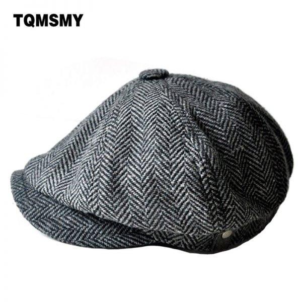 high quality newsboy caps for men and women hats gorras planas Octagonal cap Leisure and wool blend canned koala flat cap 2
