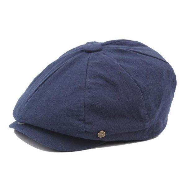 octagonal cap winter male British style retro linen painter hat solid color stitching fashion hat 10