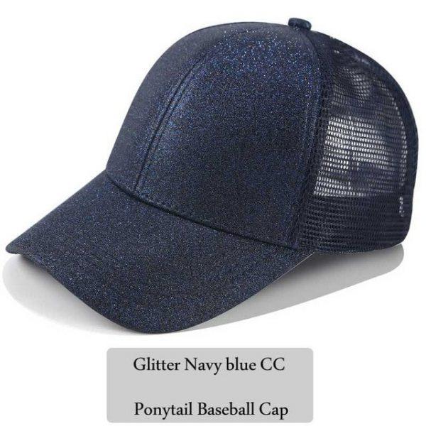 2018 CC Glitter Ponytail Baseball Cap Women Snapback Hat Summer Messy Bun Mesh Hats Casual Adjustable Sport Caps Drop Shipping 34