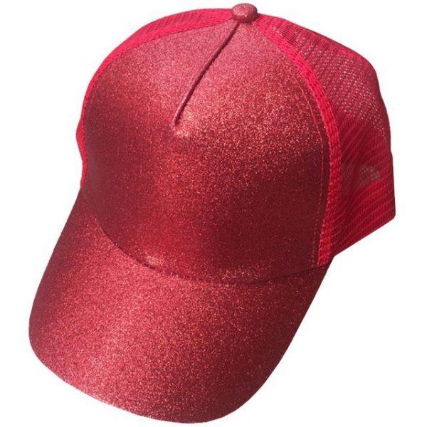 2018 CC Glitter Ponytail Baseball Cap Women Snapback Hat Summer Messy Bun Mesh Hats Casual Adjustable Sport Caps Drop Shipping 36
