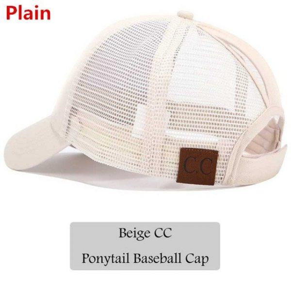 2018 CC Glitter Ponytail Baseball Cap Women Snapback Hat Summer Messy Bun Mesh Hats Casual Adjustable Sport Caps Drop Shipping 44