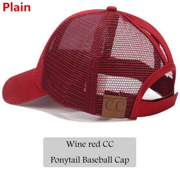 2018 CC Glitter Ponytail Baseball Cap Women Snapback Hat Summer Messy Bun Mesh Hats Casual Adjustable Sport Caps Drop Shipping 46