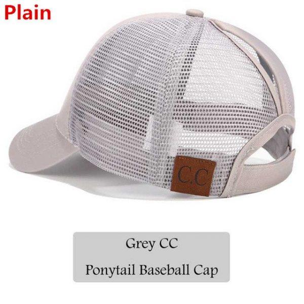 2018 CC Glitter Ponytail Baseball Cap Women Snapback Hat Summer Messy Bun Mesh Hats Casual Adjustable Sport Caps Drop Shipping 48