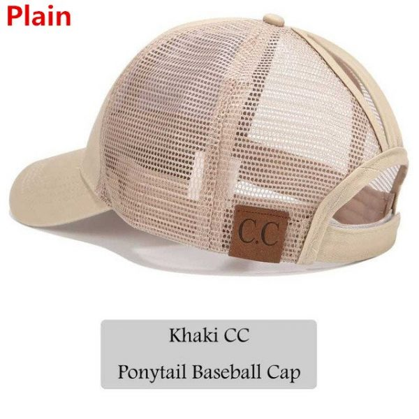 2018 CC Glitter Ponytail Baseball Cap Women Snapback Hat Summer Messy Bun Mesh Hats Casual Adjustable Sport Caps Drop Shipping 50