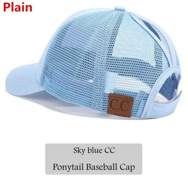 2018 CC Glitter Ponytail Baseball Cap Women Snapback Hat Summer Messy Bun Mesh Hats Casual Adjustable Sport Caps Drop Shipping 52