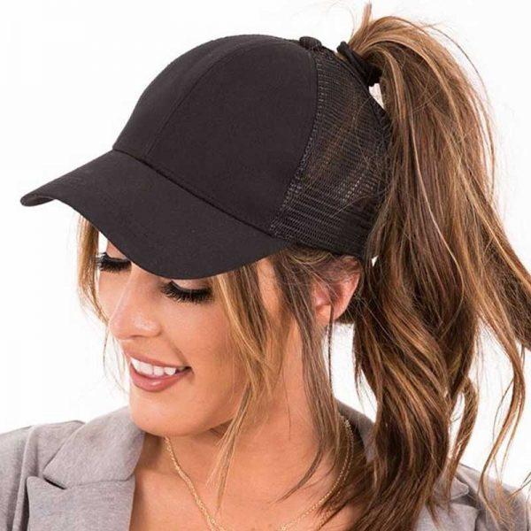 2018 CC Glitter Ponytail Baseball Cap Women Snapback Hat Summer Messy Bun Mesh Hats Casual Adjustable Sport Caps Drop Shipping 6
