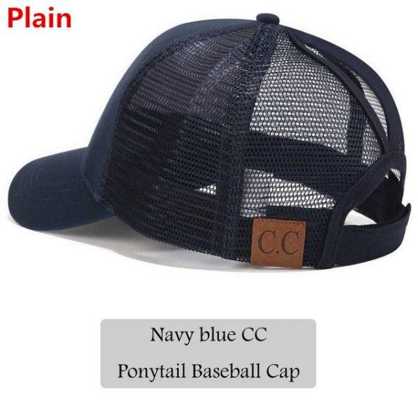 2018 CC Glitter Ponytail Baseball Cap Women Snapback Hat Summer Messy Bun Mesh Hats Casual Adjustable Sport Caps Drop Shipping 54