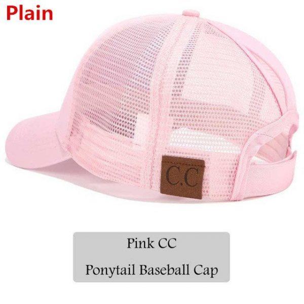 2018 CC Glitter Ponytail Baseball Cap Women Snapback Hat Summer Messy Bun Mesh Hats Casual Adjustable Sport Caps Drop Shipping 56