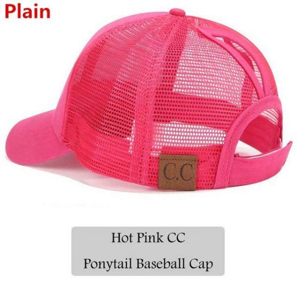 2018 CC Glitter Ponytail Baseball Cap Women Snapback Hat Summer Messy Bun Mesh Hats Casual Adjustable Sport Caps Drop Shipping 60