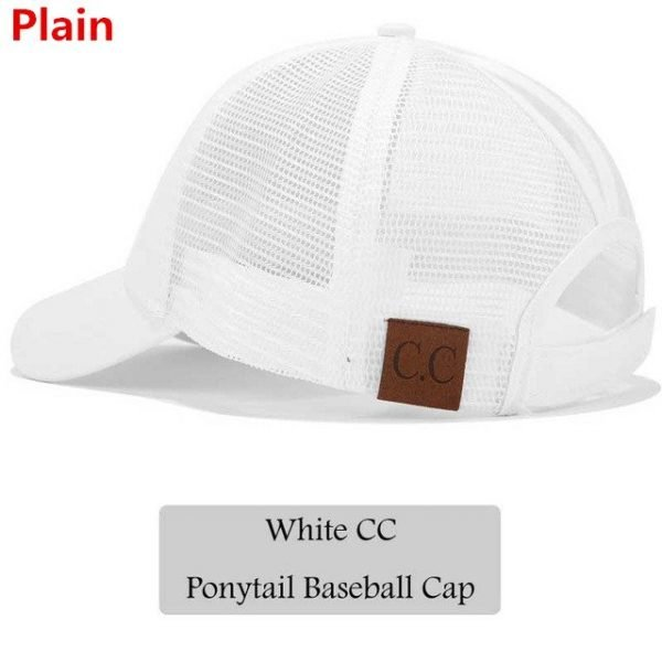 2018 CC Glitter Ponytail Baseball Cap Women Snapback Hat Summer Messy Bun Mesh Hats Casual Adjustable Sport Caps Drop Shipping 62
