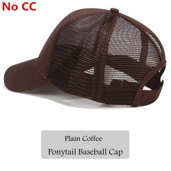 2018 CC Glitter Ponytail Baseball Cap Women Snapback Hat Summer Messy Bun Mesh Hats Casual Adjustable Sport Caps Drop Shipping 68