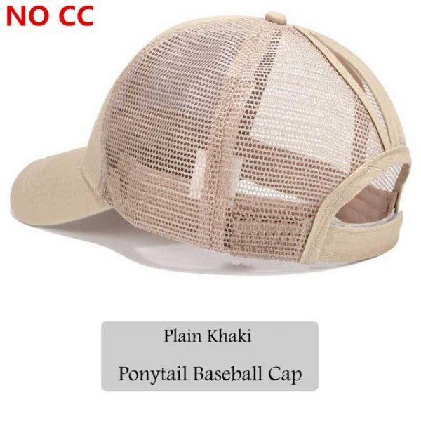 2018 CC Glitter Ponytail Baseball Cap Women Snapback Hat Summer Messy Bun Mesh Hats Casual Adjustable Sport Caps Drop Shipping 70