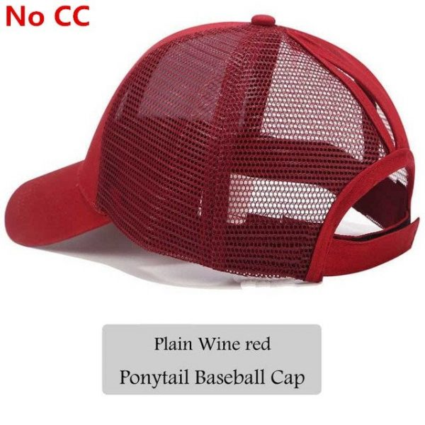 2018 CC Glitter Ponytail Baseball Cap Women Snapback Hat Summer Messy Bun Mesh Hats Casual Adjustable Sport Caps Drop Shipping 72