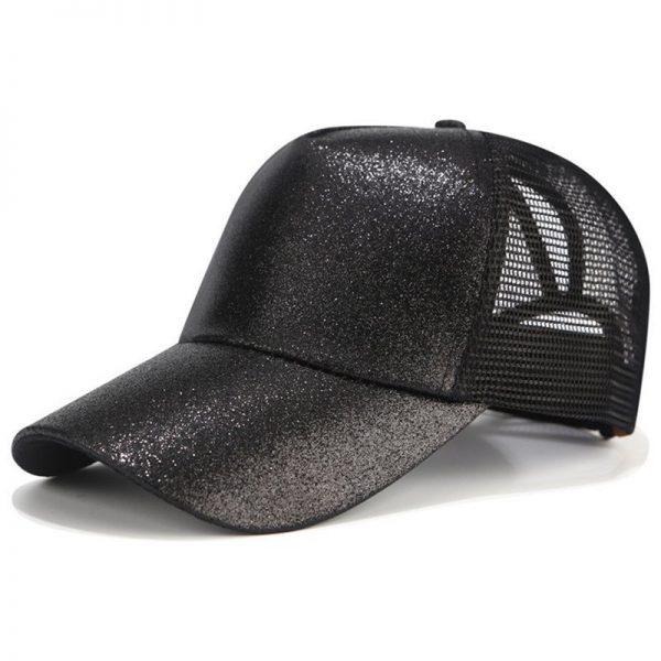 2018 CC Glitter Ponytail Baseball Cap Women Snapback Hat Summer Messy Bun Mesh Hats Casual Adjustable Sport Caps Drop Shipping 8