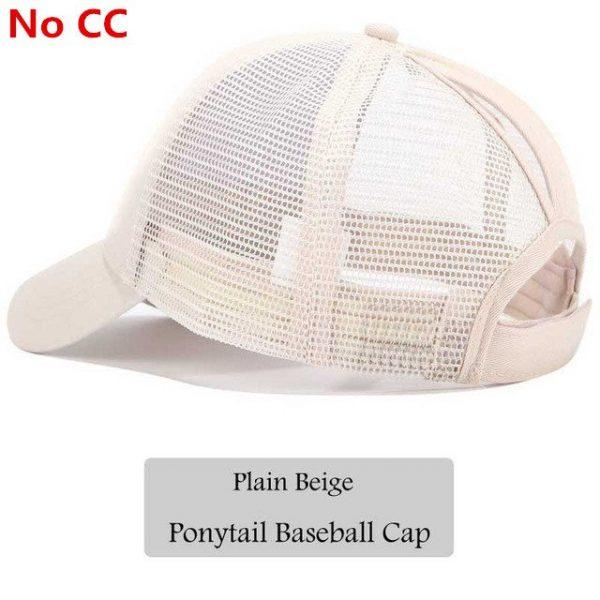 2018 CC Glitter Ponytail Baseball Cap Women Snapback Hat Summer Messy Bun Mesh Hats Casual Adjustable Sport Caps Drop Shipping 74