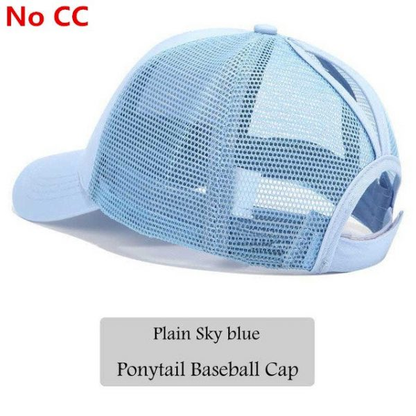 2018 CC Glitter Ponytail Baseball Cap Women Snapback Hat Summer Messy Bun Mesh Hats Casual Adjustable Sport Caps Drop Shipping 78