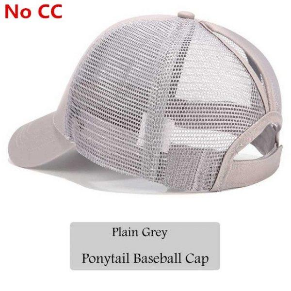 2018 CC Glitter Ponytail Baseball Cap Women Snapback Hat Summer Messy Bun Mesh Hats Casual Adjustable Sport Caps Drop Shipping 80