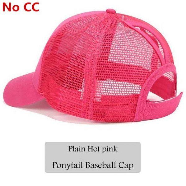 2018 CC Glitter Ponytail Baseball Cap Women Snapback Hat Summer Messy Bun Mesh Hats Casual Adjustable Sport Caps Drop Shipping 82