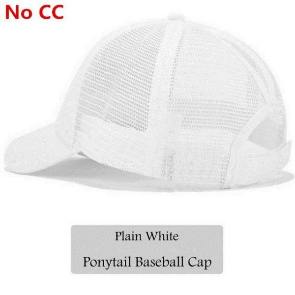 2018 CC Glitter Ponytail Baseball Cap Women Snapback Hat Summer Messy Bun Mesh Hats Casual Adjustable Sport Caps Drop Shipping 84