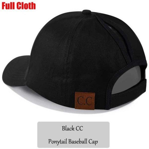 2018 CC Glitter Ponytail Baseball Cap Women Snapback Hat Summer Messy Bun Mesh Hats Casual Adjustable Sport Caps Drop Shipping 92