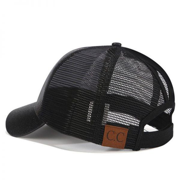 2018 CC Glitter Ponytail Baseball Cap Women Snapback Hat Summer Messy Bun Mesh Hats Casual Adjustable Sport Caps Drop Shipping 10