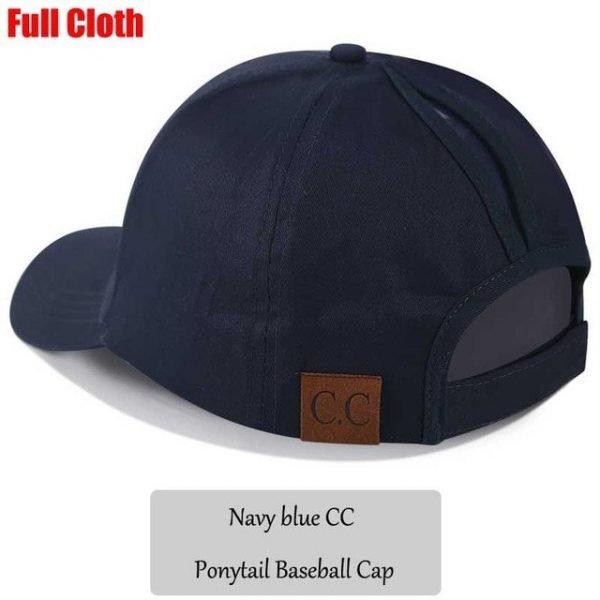 2018 CC Glitter Ponytail Baseball Cap Women Snapback Hat Summer Messy Bun Mesh Hats Casual Adjustable Sport Caps Drop Shipping 94