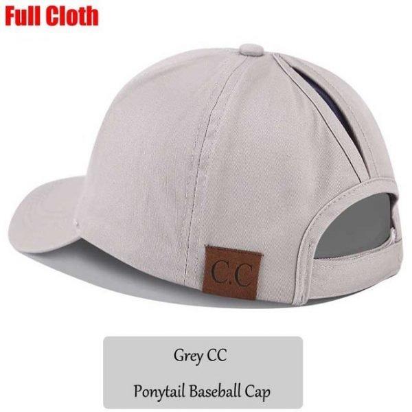 2018 CC Glitter Ponytail Baseball Cap Women Snapback Hat Summer Messy Bun Mesh Hats Casual Adjustable Sport Caps Drop Shipping 98