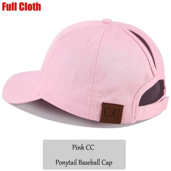 2018 CC Glitter Ponytail Baseball Cap Women Snapback Hat Summer Messy Bun Mesh Hats Casual Adjustable Sport Caps Drop Shipping 100