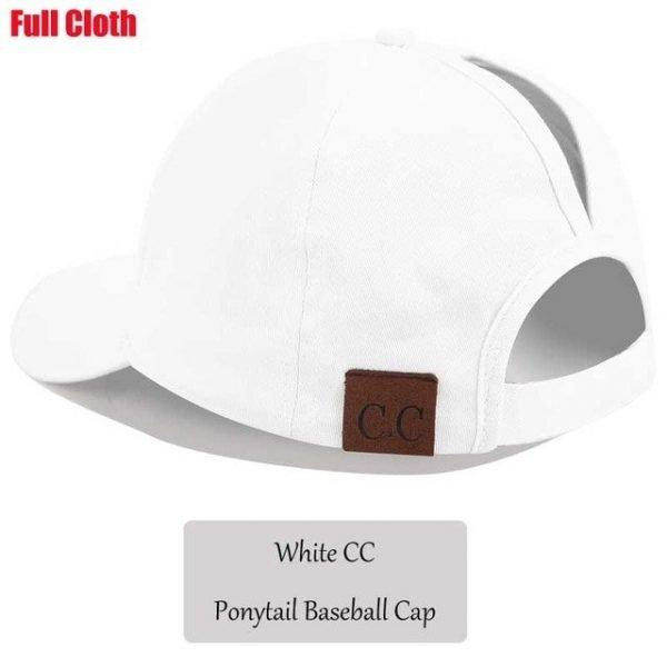 2018 CC Glitter Ponytail Baseball Cap Women Snapback Hat Summer Messy Bun Mesh Hats Casual Adjustable Sport Caps Drop Shipping 104