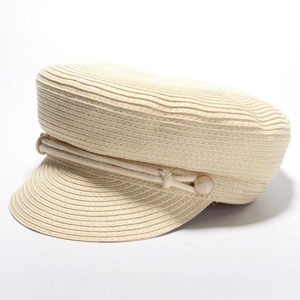 Cotton Yarn Solid Summer Hats For Women Newsboy Caps Fashion Elegant Ladies Beret Octagonal Cap Sunhat Gorras Female 2