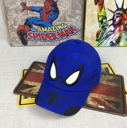 Spiderman Cartoon Children Embroidery Cotton Baseball Cap kids Boy Girl Hip Hop Hat Spiderman cosplay hat 16