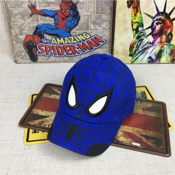 Spiderman Cartoon Children Embroidery Cotton Baseball Cap kids Boy Girl Hip Hop Hat Spiderman cosplay hat 6