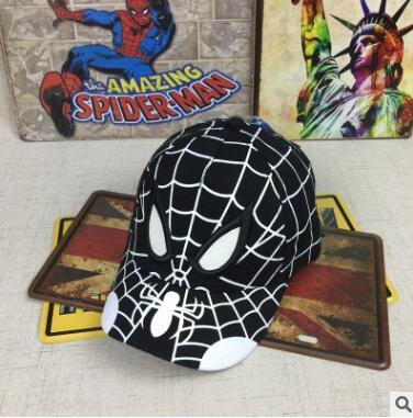 Spiderman Cartoon Children Embroidery Cotton Baseball Cap kids Boy Girl Hip Hop Hat Spiderman cosplay hat 18