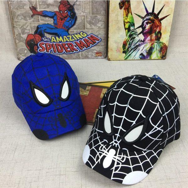 Spiderman Cartoon Children Embroidery Cotton Baseball Cap kids Boy Girl Hip Hop Hat Spiderman cosplay hat 10