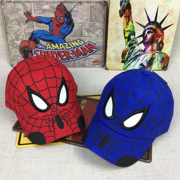 Spiderman Cartoon Children Embroidery Cotton Baseball Cap kids Boy Girl Hip Hop Hat Spiderman cosplay hat 12