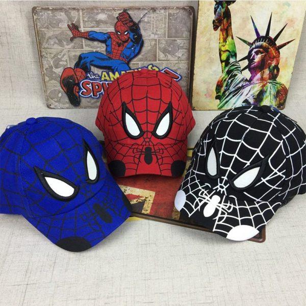 Spiderman Cartoon Children Embroidery Cotton Baseball Cap kids Boy Girl Hip Hop Hat Spiderman cosplay hat 2