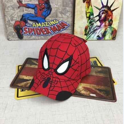Spiderman Cartoon Children Embroidery Cotton Baseball Cap kids Boy Girl Hip Hop Hat Spiderman cosplay hat 14