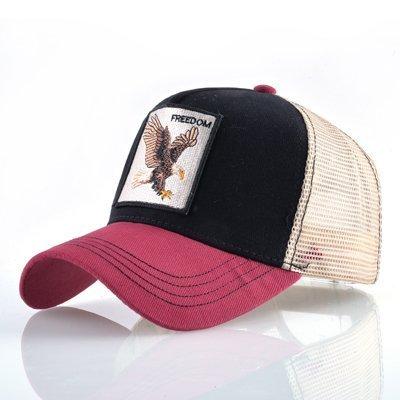 8 Kinds of embroidery animal Baseball Caps men Breathable Mesh Snapback caps Unisex sun hat for women bone Casquette Hip Hop cap 68