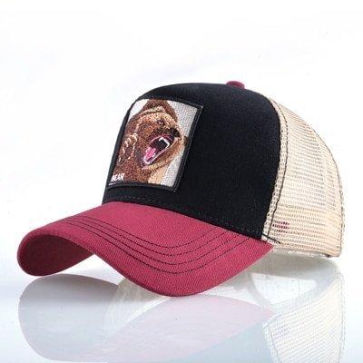 8 Kinds of embroidery animal Baseball Caps men Breathable Mesh Snapback caps Unisex sun hat for women bone Casquette Hip Hop cap 80