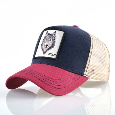 8 Kinds of embroidery animal Baseball Caps men Breathable Mesh Snapback caps Unisex sun hat for women bone Casquette Hip Hop cap 98