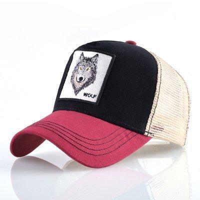 8 Kinds of embroidery animal Baseball Caps men Breathable Mesh Snapback caps Unisex sun hat for women bone Casquette Hip Hop cap 104