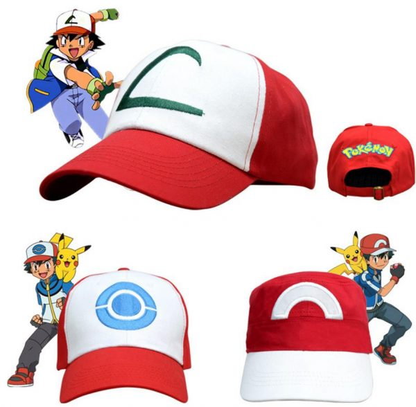 Anime Pocket Monster Cosplay Costumes Hats Pokemon Cap Ash Ketchum 2
