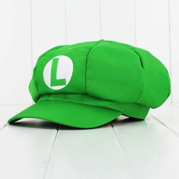 Anime Super Mario Hat Cap Luigi Bros Cosplay Baseball Costume 4